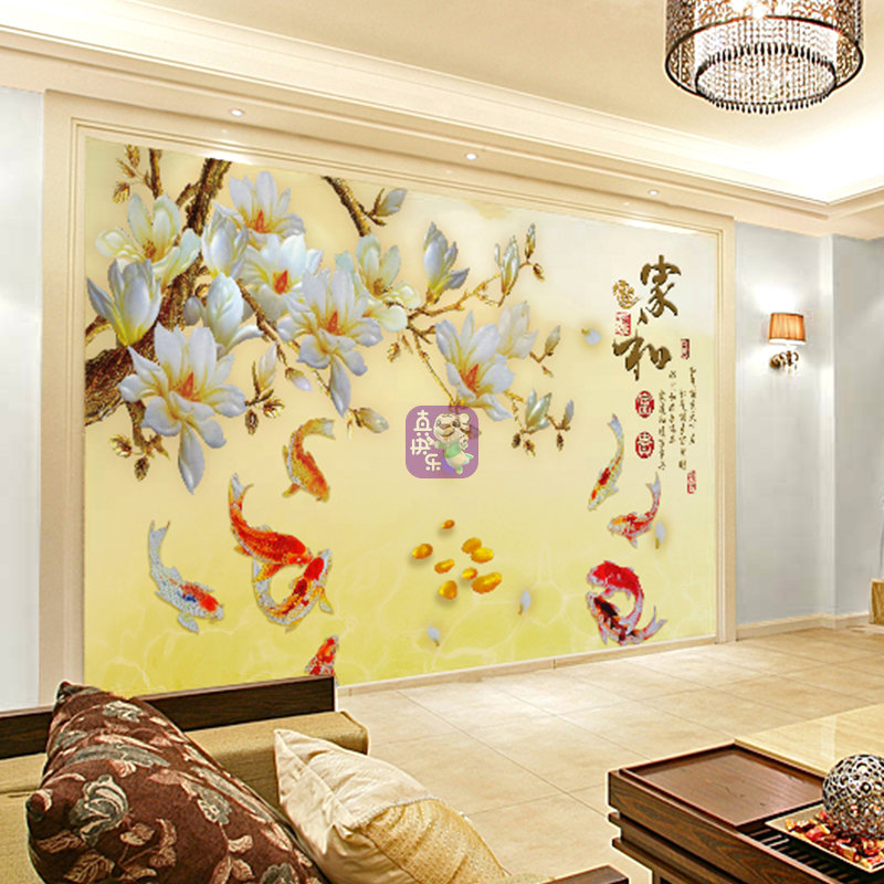 大视野 中式大型壁画 客厅电视背景墙壁纸 影视墙墙纸