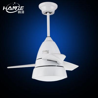 韩泽202w 现代简约时尚电风扇灯客厅餐厅吊扇灯led欧式吊灯扇风扇吊灯